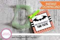 Halloween Fang Tag DIY Printable INSTANT by StacysSweetStuff