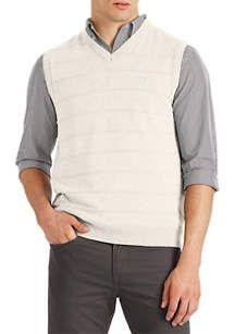 Chaps Big & Tall Cotton Sweater Vest | belk Mens Fleece, Big Family, Big & Tall, Gray Jacket, Cotton Sweater, Hand Warmers, Slacks, Vest, Sweaters