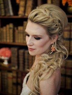 These Stunning Wedding Hairstyles Are Pure Perfection French braided side ponytail bridesmaid hair @ Formal Hairstyles, Up Hairstyles, Pretty Hairstyles, Braided Hairstyles, Wedding Hairstyles, Wedding Updo, Braided Updo, Grecian Hairstyles, Messy Fishtail