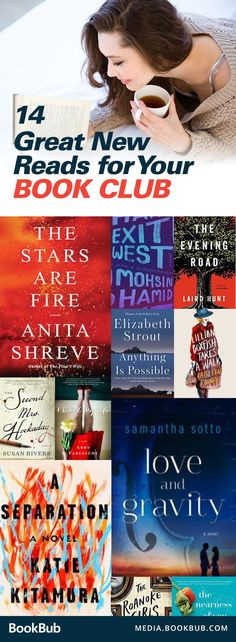 14 book club books to read in 2017. These new books are great ideas to keep discussion fresh, and a great reading choices for women, too!