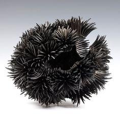 Junko Mori: Propagation Project; Sea Urchin Forged mild steel, wax-coated