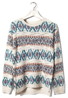 Designer Clothes, Shoes & Bags for Women Jersey Jacquard, Pull N Bear, White Tops, Christmas Sweaters, Knitwear, Cool Outfits, Pullover, Knitting, Blouse