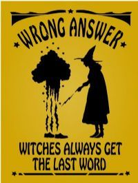 Wrong answer, witch always get the last word Halloween Signs, Holidays Halloween, Vintage Halloween, Halloween Crafts, Happy Halloween, Halloween Decorations, Halloween Party, Halloween Canvas, Halloween Magic