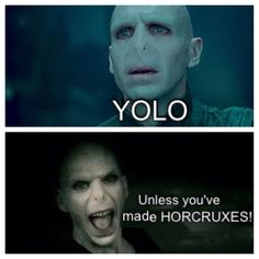 Harry potter :: Voldemort:: Yolo, Unless you've made horcruxes!