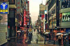 "fuckyeahjapanandkorea: "" Rainy Yokohama by Arutemu "" Urban Concept, Japanese Lifestyle, Nihon, Yokohama, Photo Reference, Rainy Days, Tokyo, Scenery, Asia"