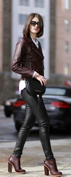 Perfect jacket + Leather leggings / Tatiana Salia