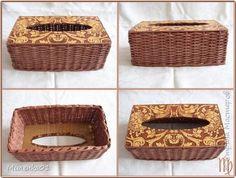 Плетение вязанные корзины Бумага газетная фото 8