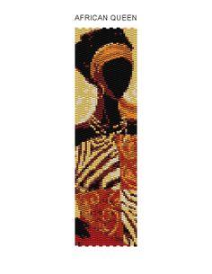African Queen Peyote Bracelet Pattern Buy 2 by JewelryPatternsPlus