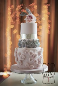 This is one of the cakes that I made for Cake Central Magazine.     I was thrilled and astounded in equal measures when Cake Central approached me to make a cake for the magazine. The inspiration was taken from a picture of a Chanel dress.