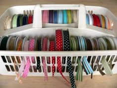 ribbon storage by sweet_sour01ca - Cards and Paper Crafts at Splitcoaststampers