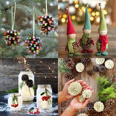 Beautiful DIY pine cone crafts for kids & adults! Best ideas to make free pinecone decorations & easy gifts from spring to fall & Christmas! - A Piece of Rainbow #pinecones #pineconecrafts #diy #homedecor home decor ideas, #diyhomedecor #thanksgiving #christmas #christmasdecor #crafts #fall #winter #farmhouse #vintage #farmhousestyle farmhouse, wedding, flowers #centerpiece Thanksgiving, table centerpiece #modpodge #craftsforkids Christmas Planters, Christmas Mason Jars, Christmas Centerpieces, Outdoor Christmas, Christmas Crafts, Christmas Decorations, Wedding Centerpieces, Pinecone Crafts Kids, Pine Cone Crafts