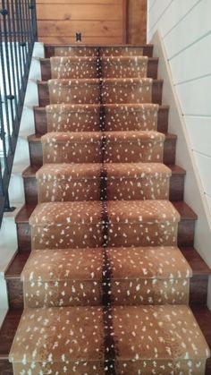 Antelope Print Stairs Home Ideas Home Sweet Home Home Ruidoso Cabins, Laminate Flooring On Stairs, Future House, My House, Foyer Staircase, Sweet Home, Sweet Sweet, Home Photo, Humble Abode