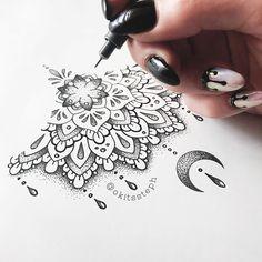 Popular Tattoos and Their Meanings Cover Up Tattoos, Mini Tattoos, All Tattoos, Body Art Tattoos, Sleeve Tattoos, Tatoos, Brust Tattoo Frau, Henna Inspired Tattoos, Henna Tattoo Designs