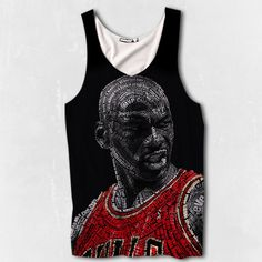 163b34bef29 BRAND NEW MENS Micheal Jordan Air Jordan Chicago Bulls Tank Top -  Sublimated Print Basketball on Etsy