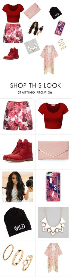 """""""Back at it"""" by kayladashay123 ❤ liked on Polyvore featuring Moncler Gamme Rouge, DK, Timberland, Sasha, Casetify, American Eagle Outfitters, Full Tilt, H&M, Melissa McCarthy Seven7 and plus size clothing"""