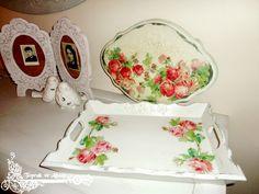 AHŞAP BOYAMA- selam sana peçetelerin efendisi... Decoupage, Tray, Plates, Tableware, Home Decor, Licence Plates, Dishes, Dinnerware, Decoration Home