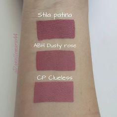 Stila Patina, Anastasia Beverly Hills @anastasiabeverlyhills Dusty Rose, ColourPop @colourpopcosmetics Clueless #lip #makeup #lipstick Dupe