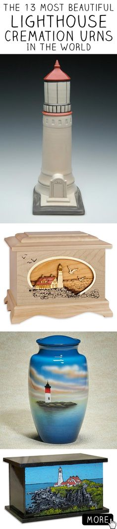 The 13 most beautiful lighthouse cremation urn in the world. #lighthouse #memorials