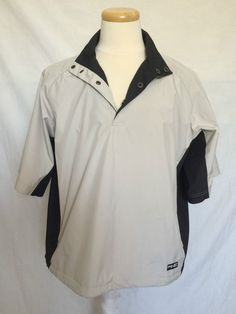 Ping Collection mens wind rain golf jacket pullover beige black short sleeves M | eBay