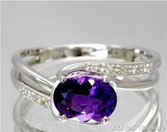 I need more amethyst in my life, dazzling purple gemstone ring