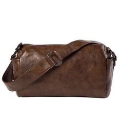 fcddc6827862 Men Vintage New Messenger Bag Cell Phone Pocket Handbag Large Capacity  Shoulder Separated Straps PU Leather Men s Crossbody Bag
