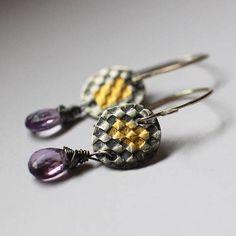 sarawestermark - 24k Gold and Silver Earrings  boho gift for mom #etsymetalteam