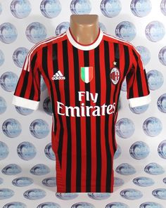 dadf74161 AC MILAN 2011 2012 TECHFIT HOME FOOTBALL SOCCER SHIRT JERSEY MAGLIA ADIDAS M