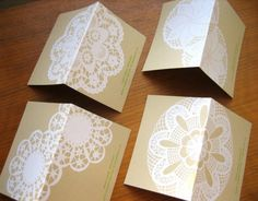 4 Doily Giftcards by beauideal on Etsy