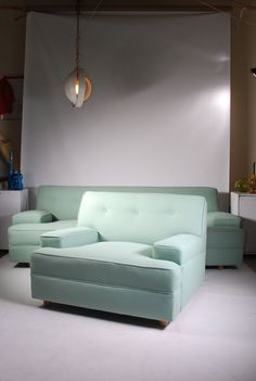 Mid Century Modern Sofa and Chair  New Upholstery by RetrogradeLA, $2950.00