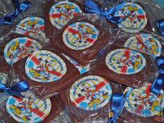 Pirulitos de chocolate #ATurmadoMickey