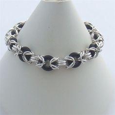 Jump Ring Jewelry, Wire Jewelry, Jewelry Crafts, Beaded Jewelry, Handmade Jewelry, Jewlery, Chainmail Patterns, Bracelet Making, Jewelry Making