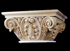 Decorative Capital - Ionic Modern French Stain Grade Wood Capital - Chadsworth Columns: shop.columns.com