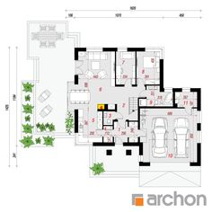 Projekt domu Dom w rukoli 5 (G2N) - ARCHON+ Casas Country, House Plans, Sweet Home, Floor Plans, House Design, How To Plan, Architecture, Plane, Two Story Houses