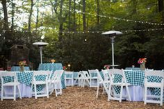 Wedding Reception Set Up At High Hampton Inn In Cashiers NC