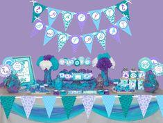 Mermaid party printable package Mermaid party by MagicPartyDesigns
