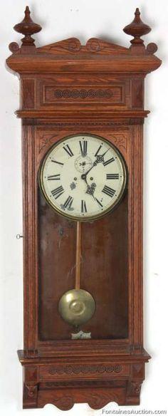 Waterbury No. 54 Regulator – LOT 121 Estimate: $800 – $1200 Waterbury No. 54 Regulator  Antique Clock Auction, November 23rd 2013 - Waterbury No. 54 Regulator
