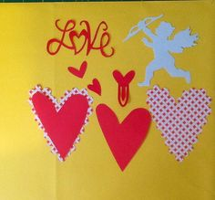 Kit cupido e corações para suas paginas de scrap com mais charme.  Kit contém recortes de : cupido, varios modelos de corações, palavra Love.  Pode ser feito em outras cores dependendo da disponibilidade. R$ 4,00