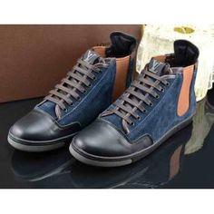 Louis Vuitton Slalom Men Sneakers Boot blue