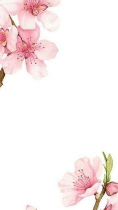 Pink Watercolour Flowers Birds Iphone Wallpaper Background Lockscreen Wallpapers Simple Wallpapers Iphone Wallpaper Cute Wallpapers