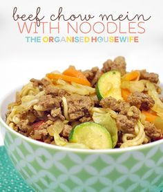 I have made Chow Mein for my family for years.  The kids loved it as toddlers and I found it was a great way to add some vegetables into their meals, with mince which all kids love and a fun element of wiggley noodles.