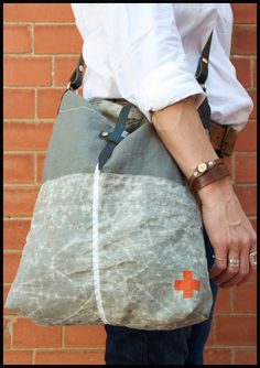 linen & waxed cotton tote 1