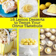 18 Lemon Desserts to Tempt Your Citrus Taste Buds