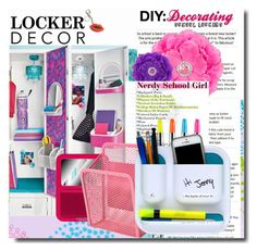 LOCKER DECOR by smile-736 on Polyvore featuring interior, interiors, interior design, hogar, home decor, interior decorating, BackToSchool and lockerdecor