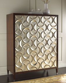 Ribbons Silver-Leaf: Cabinet by door