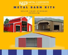 Find great deals on Metal Carports Direct for metal kits and prefab metal buildings. We provides top quality barn at the lowest prices. Choose us to get your favourite metal Metal Carports, Metal Garages, Metal Barn Kits, Prefab Metal Buildings, Rv Shelter, Metal Building Kits, Steel Barns, Storage Solutions, Shed