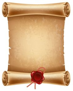 Scrolled Paper PNG Clipart Image