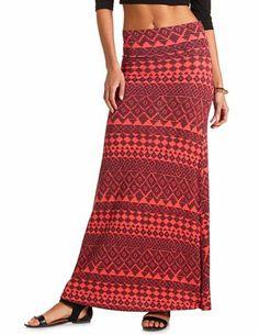 Tribal Print Maxi Skirt: Charlotte Russe