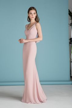 Lace Wedding Dresses, Fantastic Stretch Satin V-neck Neckline Full Length Sheath/Column Bridesmaid Dresses, Find your personal style and the perfect wedding dress for your special wedding day 1920s Bridesmaid Dresses, Wedding Party Dresses, Bridal Dresses, Bridesmaids, Bridesmaid Ideas, Ball Dresses, Ball Gowns, Kelsey Rose, Bridal Dress Design