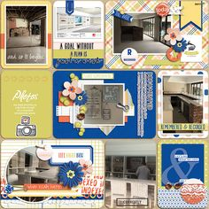 Digital scrapbook layout idea using Project Grateful Indexed collection.
