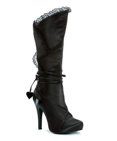 6f89e928c240 Ellie Shoes Black Gothika Boot  boots  shoes  black Lace Knee High Boots